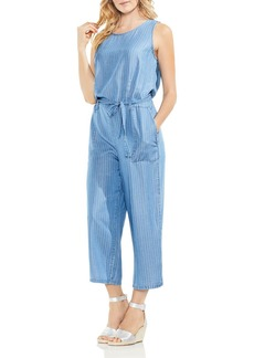 VINCE CAMUTO Pinstripe Chambray Jumpsuit