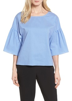 Vince Camuto Pinstripe Ruffle Sleeve Blouse