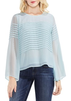 Vince Camuto Pintuck Detail Bell Sleeve Blouse