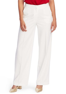 Vince Camuto Pintuck Detail Wide Leg Textured Twill Pants