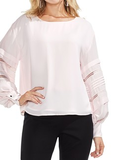 Vince Camuto Pintuck Sleeve Blouse