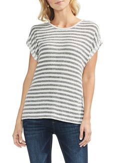 Vince Camuto Piqué Bar Stripe Top