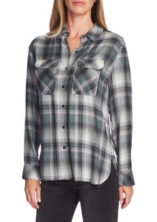 Vince Camuto Plaid Button-Up Utility Shirt
