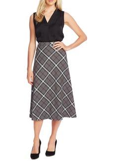 Vince Camuto Plaid Midi Skirt