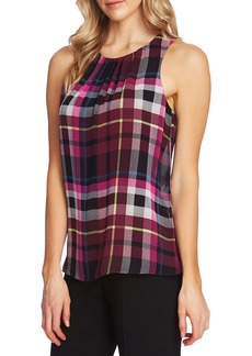 Vince Camuto Plaid Sleeveless Blouse