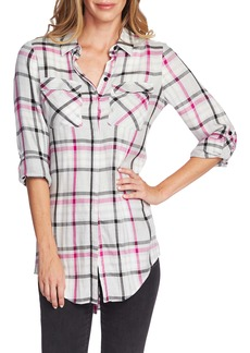 Vince Camuto Plaid Tunic