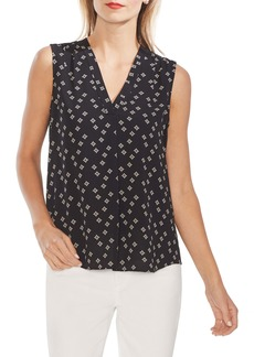 Vince Camuto Playful Foulard V-Neck Blouse