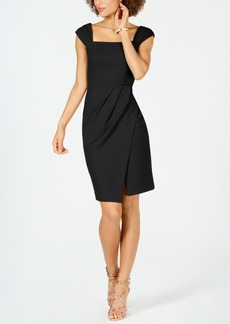 Vince Camuto Pleat-Detail Sheath Dress