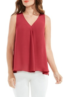Vince Camuto Pleat Front A-Line Blouse (Regular & Petite)