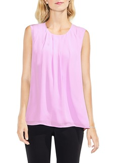 Vince Camuto Pleat Neck Blouse