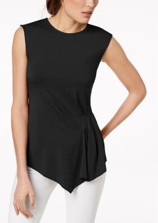 Vince Camuto Pleated Asymmetrical Top