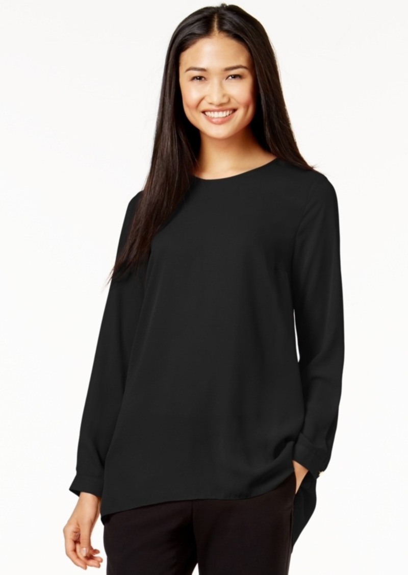 Vince Camuto Pleated-Back High-Low Blouse