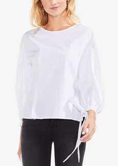 Vince Camuto Pleated Balloon-Sleeve Top