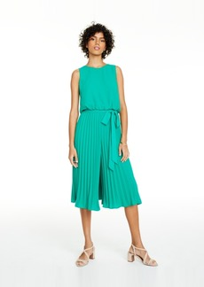 Vince Camuto Pleated Cropped Jumpsuit