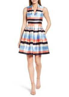 Vince Camuto Pleated Fit & Flare Dress (Regular & Petite)