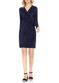 Vince Camuto Pleated Knit Wrap Dress