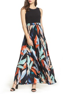 Vince Camuto Pleated Maxi Dress (Regular & Petite)