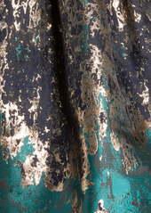 Vince Camuto Pleated Metallic Jacquard Fit & Flare Minidress