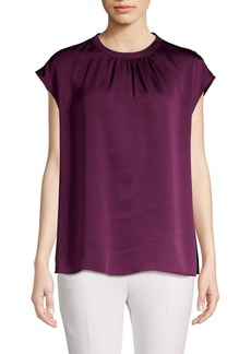Vince Camuto Pleated Sateen Top