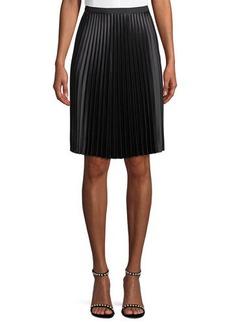 Vince Camuto Pleated Satin Skirt