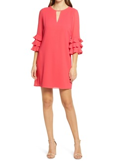 Vince Camuto Pleated Sleeve Float Shift Dress