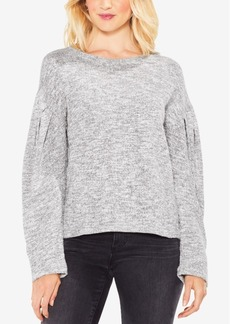 Vince Camuto Pleated-Sleeve Marled Sweater