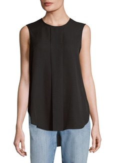 Vince Camuto Pleated Sleeveless Hi-Lo Blouse