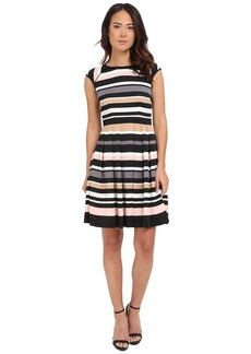 Vince Camuto Pleated Stripe Dress