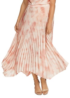 VINCE CAMUTO Pleated Tie-Dye Skirt