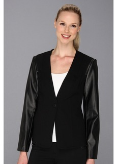 Vince Camuto Pleather Sleeve Jacket