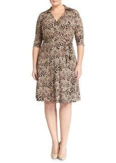 Cynthia Steffe Animal-Print Wrap Dress