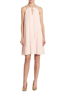 Vince Camuto Asymmetrical Beaded Dress