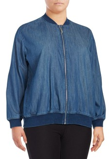 Vince Camuto Plus Denim Bomber Jacket