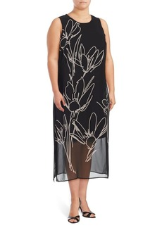 Vince Camuto Plus Floral Midi Dress