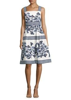 Vince Camuto Floral Print Flare Dress