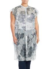 Vince Camuto Plus Floral-Print Tunic