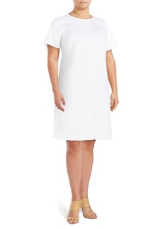 Vince Camuto Plus Frayed Shift Dress