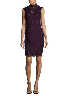 Vince Camuto Mesh Lace Mini Dress