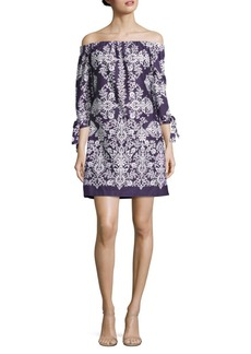 Vince Camuto Patterned Off-the-Shoulder Dress