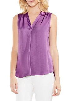 Vince Camuto Plus Pleated Sleeveless Blouse