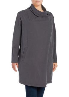 VINCE CAMUTO PLUS Plus Cowlneck Asymmetrical Topper Jacket