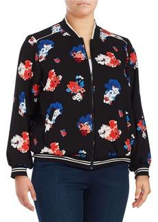 VINCE CAMUTO PLUS Plus Floral Bomber Jacket