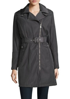 Vince Camuto Point Collar Hooded Coat