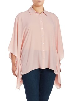 Vince Camuto Plus Poncho-Sleeve Blouse