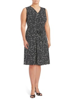 Vince Camuto Plus Printed A-Line Dress