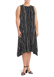Vince Camuto Plus Printed Asymmetrical Dress