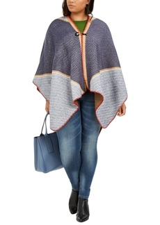 Vince Camuto Plus Size Colorblocked Topper