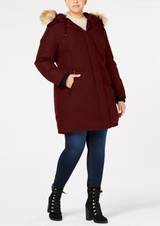 Vince Camuto Plus Size Faux-Fur-Trim Hooded Parka