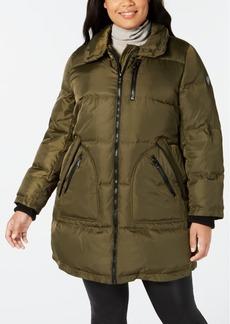 Vince Camuto Plus Size Faux-Fur-Trim Puffer Coat