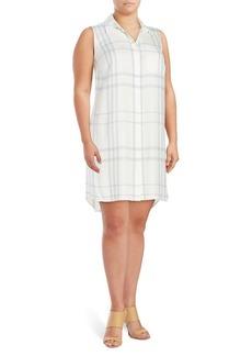 Vince Camuto, Plus Size Patterned Shirt Dress